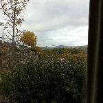 vue viaduc depuis fenêtre cuisine chalet 4 personnes