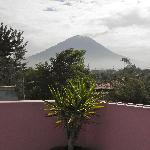 View of Volcano Misti from the rooftop terrace