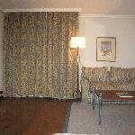 room #109 with curtains drawn-very quiet