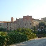 Paciano's walled city, a short walk from Fontanaro