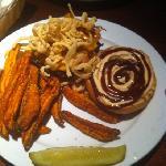 tumbleweed burger and sweet potato fries