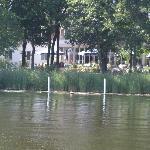 Blick vom Templiner See auf's Hotel