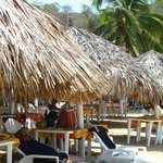 Relaxing under a palapa at Restaurant Paraiso Escondido.