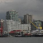 View of Lonsdale Quay, showing the hotel (taken from the sea-bus)