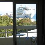 uitzicht op de cruiseterminal