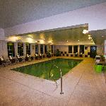 The indoor pool just off the lobby.