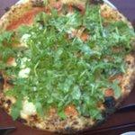 Pizza Margarita with arugula