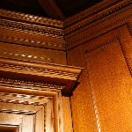 Detail in wooden panels - main hallway