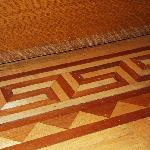 Wooden inlay in floors