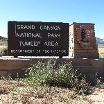 The entrance sign to the Tuweep (Trorweap) area of the Grand Canyon.