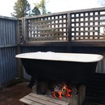 wood fire bath