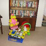 Toys and books.