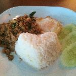 Stir Fried Basil Pork with Rice