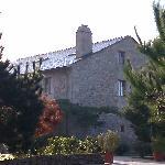 la casa desde el jardin