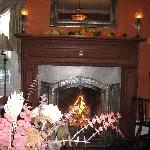 Warm fire in living room