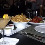 Ozmo, truffle fries and wings