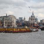 A great Thames side view of St Pauls!