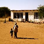 School where the bushmen children spend the day, volunteers can go there for a morning if they s