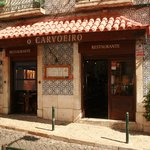 The entrance of the restaurant in the heart of historic Lisbon