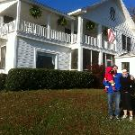 My wife and I in front of the Pines Country Inn