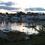 Sunset over the harbor