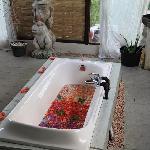 Un petit bain après un bon massage