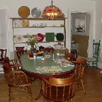 Nicely decorated dinning area.