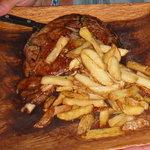 Bone-In steak with Truffle Fries