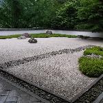 美術館にある庭園の一角です。大変きれいに手入れされています。
