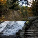 Trail leading through the falls
