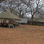The dining tent and cooking tent