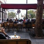 Cafe de la Mairie at Place Saint Sulpice in September