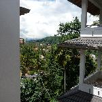 view from our room, temple of tooth has gold roof