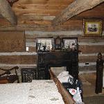 Inside the Lincoln Log Cabin
