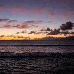 The view from the lanai of Molokai at sunset.