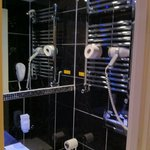 no storage space in the shower room either