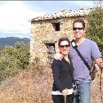 hiking the property/vineyard