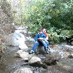 Posando en el río