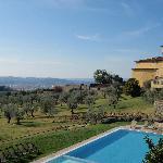 dalla piscina uno sguardo su Firenze