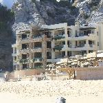 View of the Vistamar building from the beach