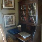 Writer's desk with books to peruse - Royal Poinciana room