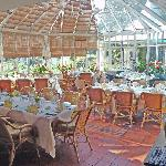Our conservatory is an informal and intimate place to dine
