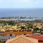 view over Caleta de Fuste from terrace