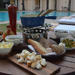 Great Fondue at La - Terrasse and Poolside