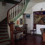 Pasillo y escalera hacia habitaciones