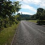 The road past Fraser's looking towards the National Wallace Monument
