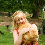 Cuddle a chicken with your Hostess Beth
