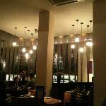 trendy restaurant area