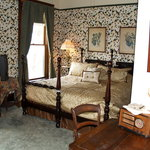 One of the bedrooms in the Occidental Hotel