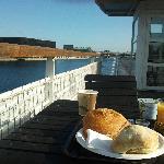Frühstück an Deck
